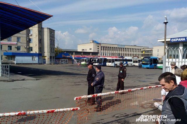 Эвакуация на кемеровском автовокзале.