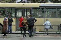 Остановка общественного транспорта.
