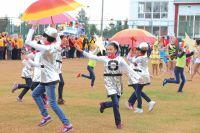 В этом году в спортивных соревнованиях приняли участие даже дошкольники.