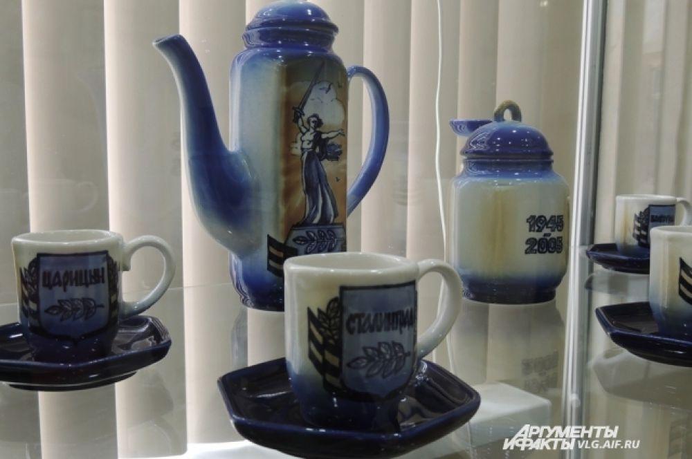 Сервиз кофейный, изготовлен к 60-летию победы в Великой Отечественной Войне.