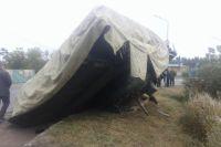 Танк перевернулся на улице Леонова.