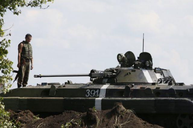 Украинские танкисты на Донбассе