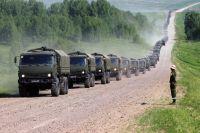 Более 400 КамАЗов и спецтехники участвовали в учениях.