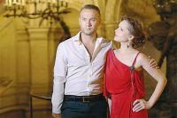 Дмитрий Ермак (Призрак) и Елена Бахтиярова (Кристин) в знаменитой Парижской опере.