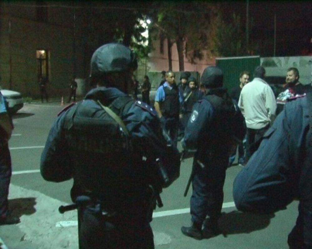 Перестрелка и ожесточенная драка в Киеве
