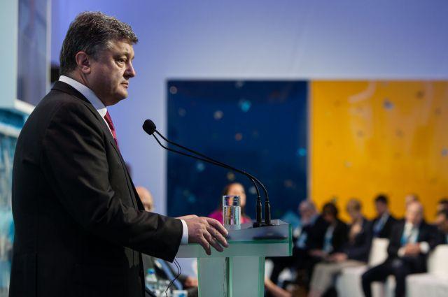 Петр Порошенко на саммите в Киеве