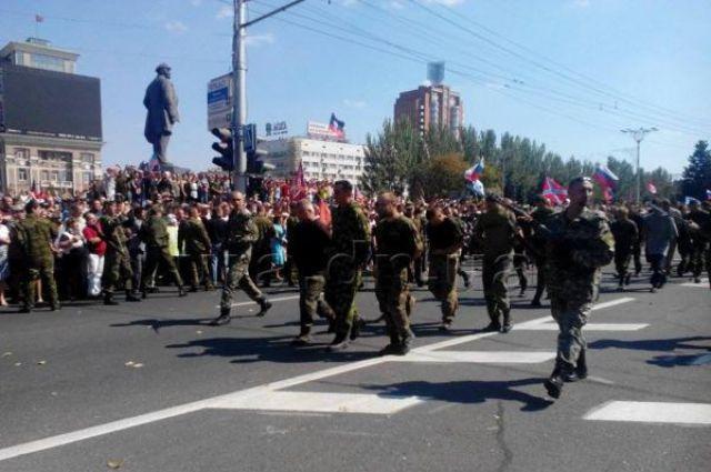 Пленные, удерживаемые экстремистами в Донецке