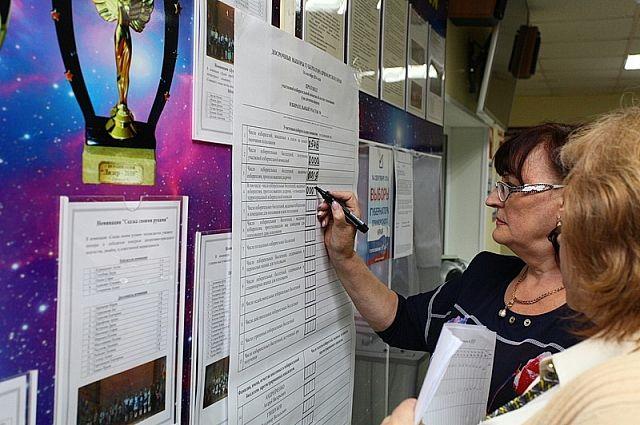 В избирательных участках идёт подсчёт голосов.