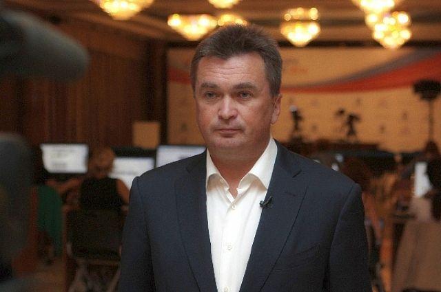 Владимир Миклушевский во время телевыступления.