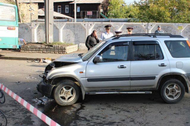 Предполагаемый виновник ДТП – водитель кроссовера Honda CR-V.