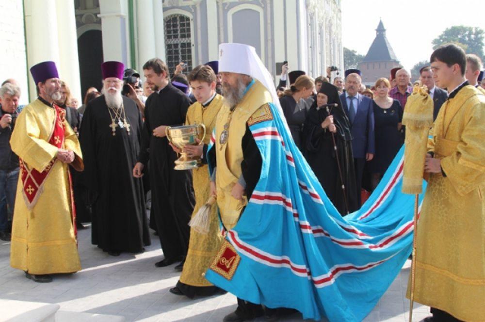 13 сентября, в День города Тулы, митрополит Тульский и Ефремовский Алексий освятил нововозведённую колокольню.