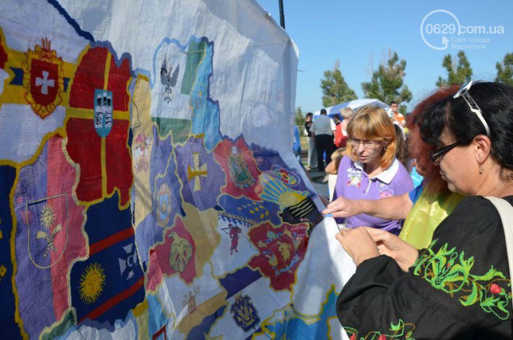В Мариуполе вышили карту Украины