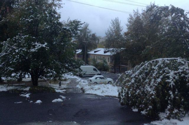 В горнозаводской части Южного Урала выпал первый снег