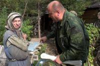 Сибирской отшельнице регулярно помогают продуктами, сеном и дровами.