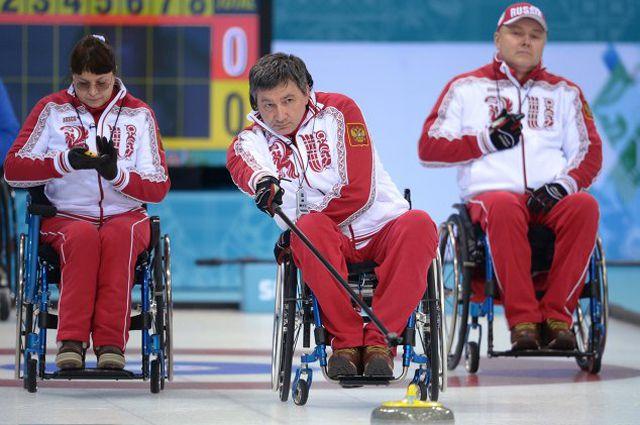 Паралимпийская сборная России по керлингу.