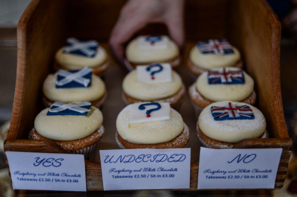 Авторское печенье в кафе Эдинбурга.