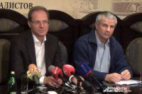 Василий Юрченко (слева) и его адвокат Александр Балян.