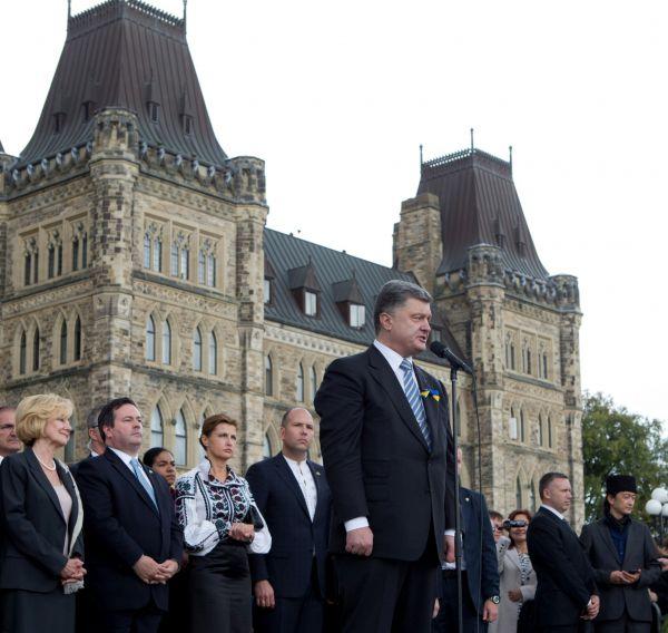 Петр Порошенко в Канаде