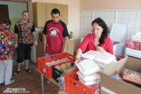 В центре беженцев в Багратионовском районе помощь принимают охотно.