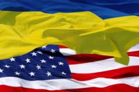 Флаги Украины и США