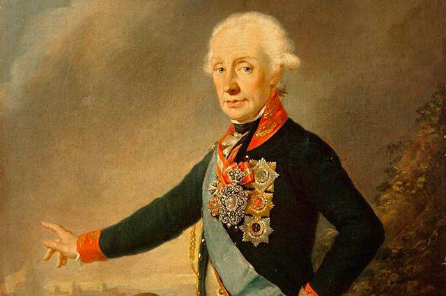 Александр Васильевич Суворов. Портрет 1799 года.