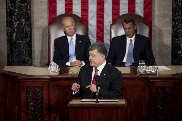 Порошенко выступает в Конгрессе США