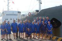 Экипаж «Антарктиды» в Камрани
