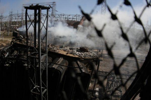 Взрыв на ТЭС в городе Счастье