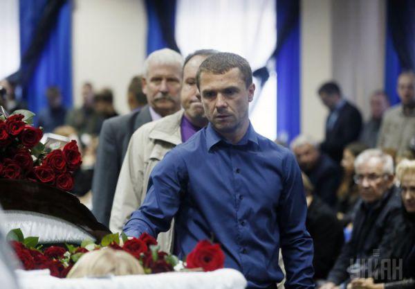 Главный тренер ФК «Динамо» Сергей Ребров во время церемонии прощания с Андреем Гусиным