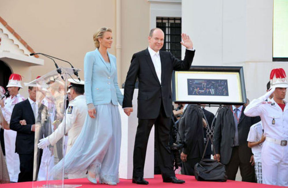 Принцесса Шарлен Монакская и князь Альбер II