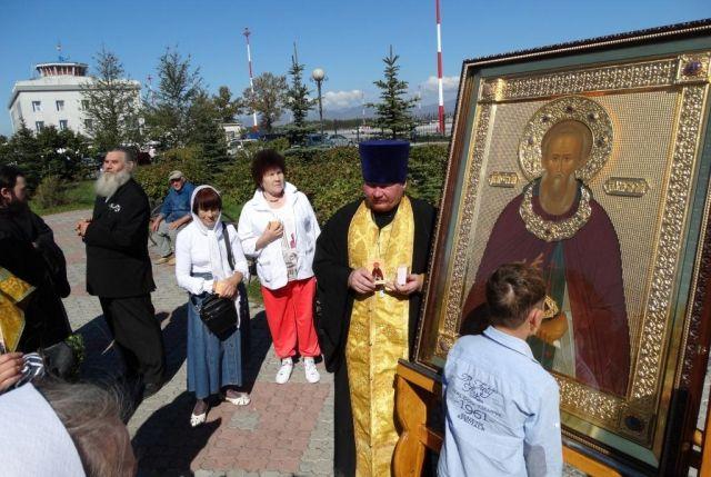 Икона преподобного Сергия Радонежского.