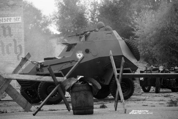 В наступлении на немецкие позиции