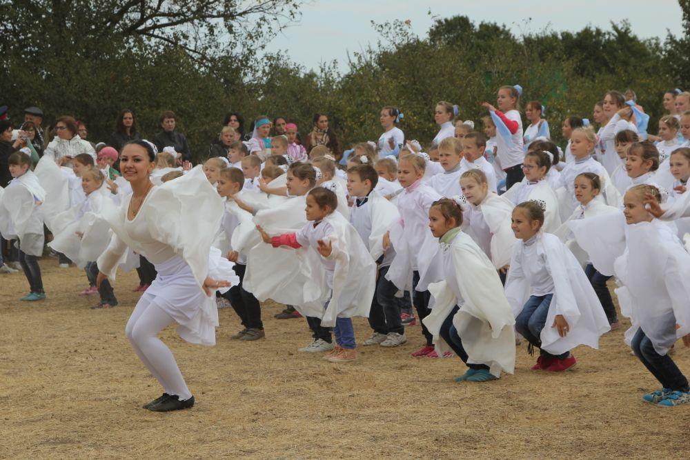 На фестивале экологического туризма «Воспетая степь» в станице Кундрюченской около 500 школьников из 23 районов области посвятили свои работы красивейшему природному явлению – массовому пролету журавлей.