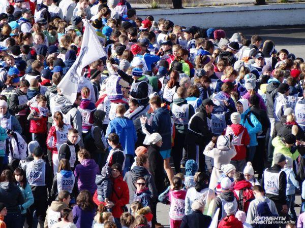 Кросс нации в Ханты-Мансийске собрал 1500 тысячи участников.