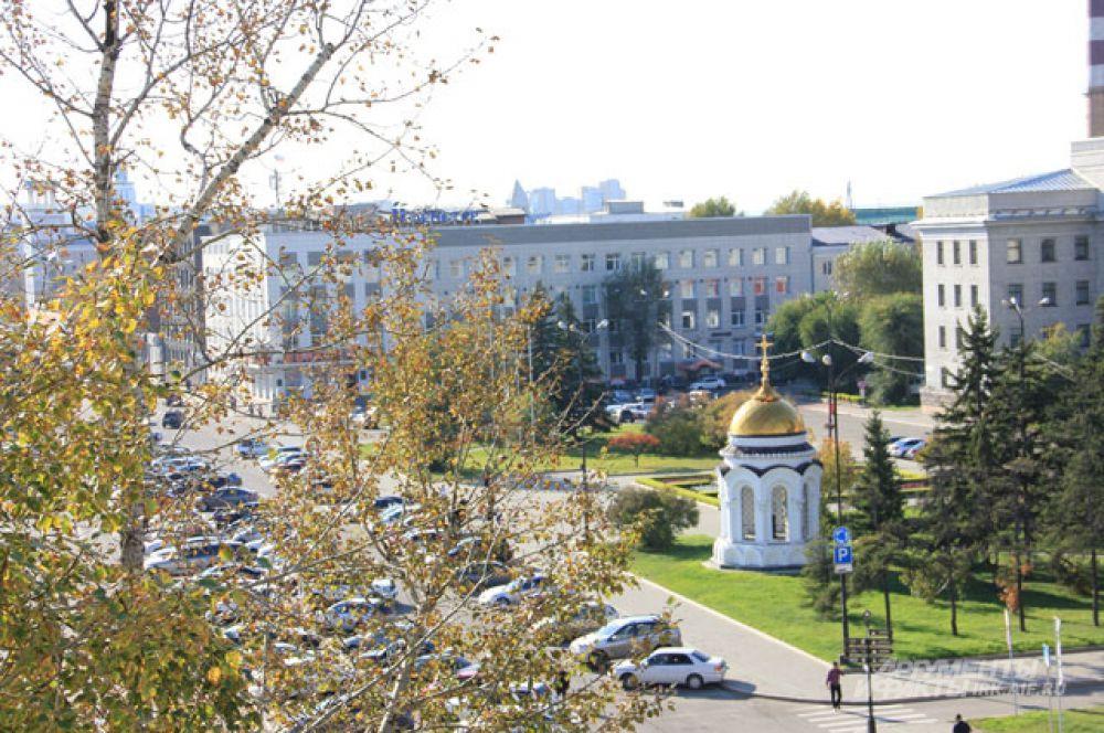 Сквер им. Кирова, Иркутск.