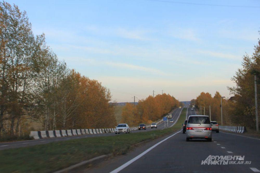 Трасса Иркутск-Листвянка.