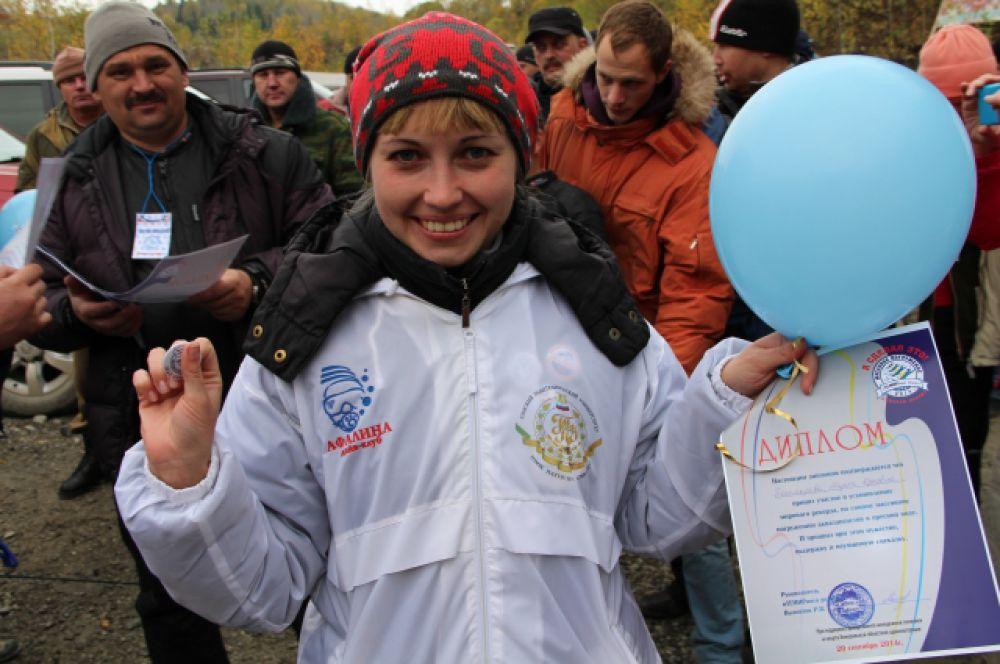 Каждый участник получил диплом рекордсмена и воздушный шарик.