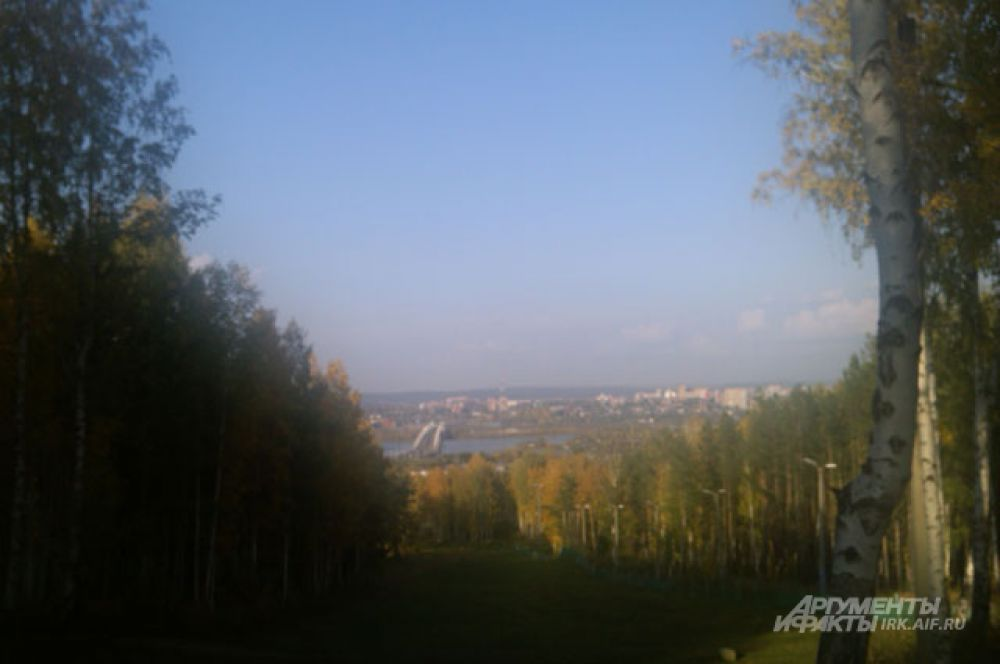 Парк в иркутском Академгородке.