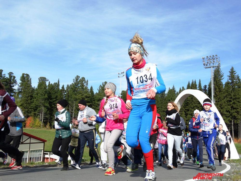 В этом году в Югре число участников «Кросса нации» составило около 15 тысяч человек.