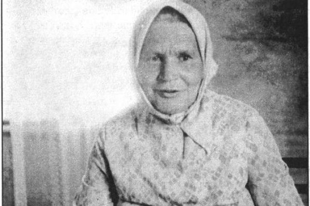Фольклорная певица Ольга Федосеевна