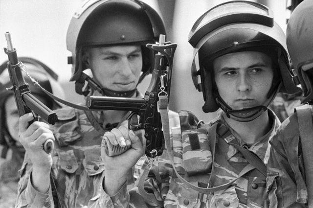 Бойцы подразделения отдельной дивизии особого назначения им. Дзержинского. 1994 год.