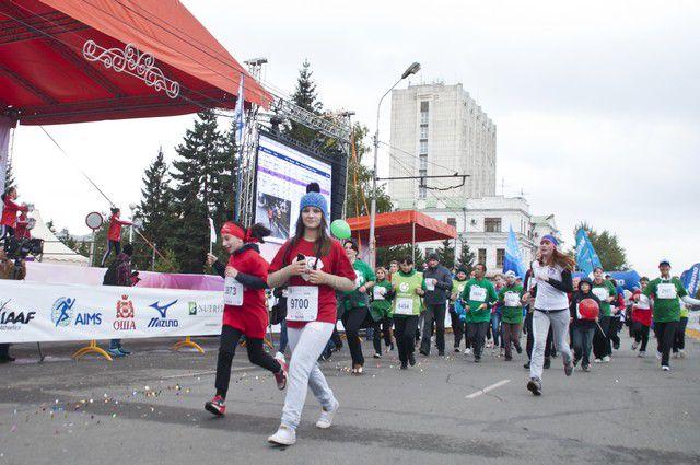 Сотрудники «Ростелекома» поучаствовали в марафоне.