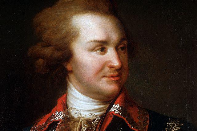 Копия с картины И.Б. Лампи. Григорий Александрович Потемкин (1739-1791).