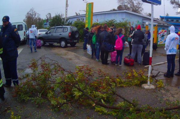 Участники смены ждут эвакуации.