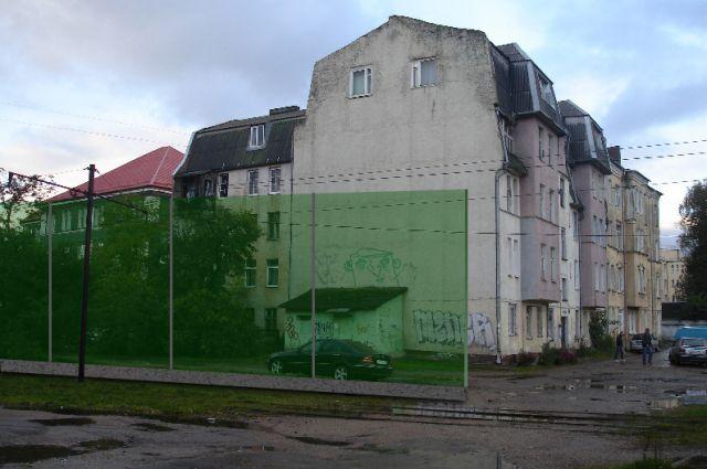 Проектом предусмотрена установка шумозащитного экрана между домом на Рижской, 14 и проезжей частью.