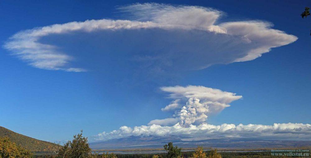 Вулкану был присвоен оранжевый (предупреждающий) код авиационной опасности.