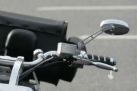 Мотоциклист врезался в пассажирскую маршрутку.