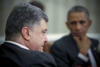 Президент Украины Пётр Порошенко на встрече с президентом США Бараком Обамой в Белом доме в Вашингтоне.