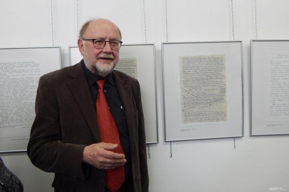 основатель Берлинского объединения KONTAKTE-КОНТАКТЫ e.V Эберхард Радзувайт, который инициировал проведение выставки