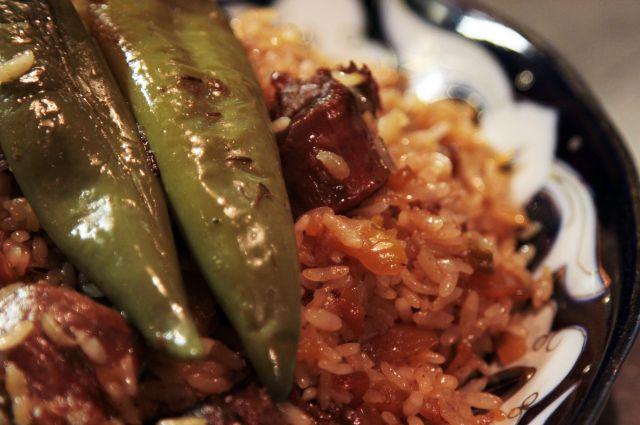 как приготовить мясо для риса
